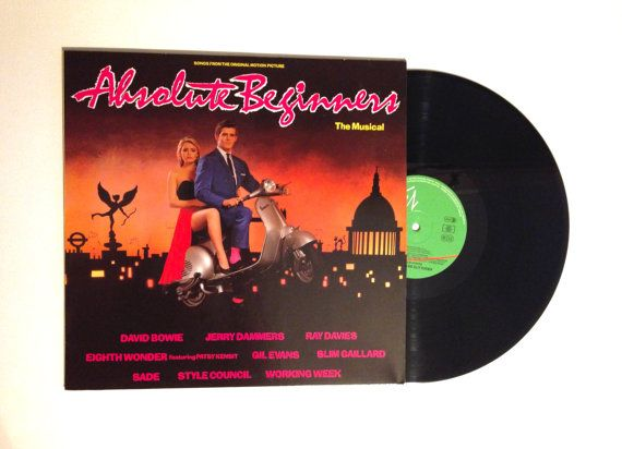 VALENTINES DAY SALE Rare Songs From The Original Motion Picture Absolute Beginners Lp Album 1986 European Pressing David Bowie Sade Vinyl Re