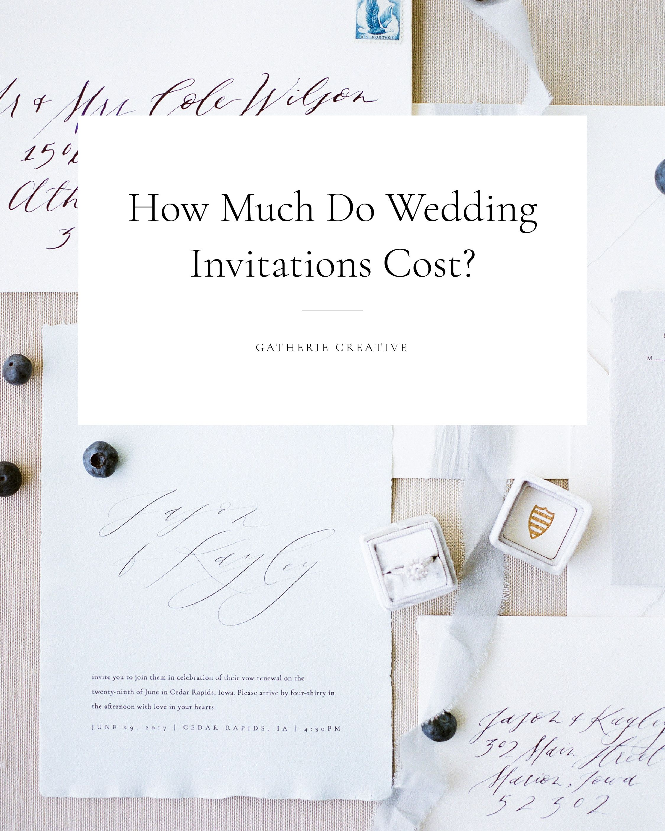 HOW MUCH DO WEDDING INVITATIONS COST? | Weddings and Wedding