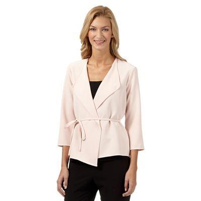 Principles by Ben de Lisi Designer light pink crepe waterfall jacket €60