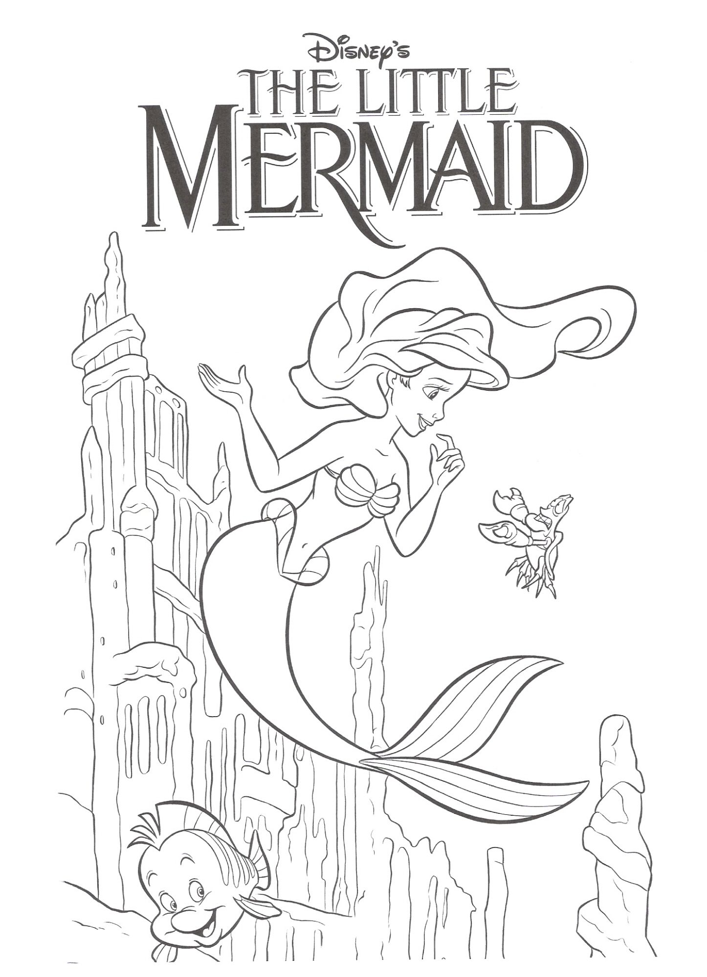 Coloring Book Pages Ariel. hello kitty is kids girls Mermaid Coloring Pages mermaid coloring  page for barbie pages getcoloringpagescom 4KraftyKidz com Home Page Birthday Pinterest Free