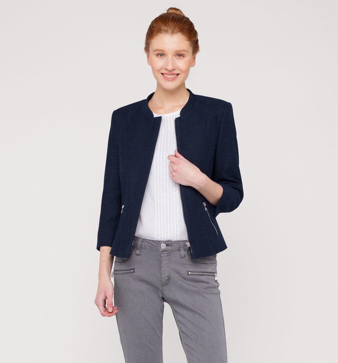blazer in dunkelblau | blazer, mode, tuch