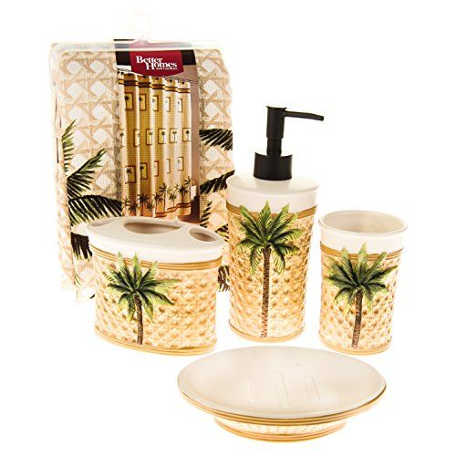 Better Homes And Gardens 5 Piece Palm Bath Set Better Homes And