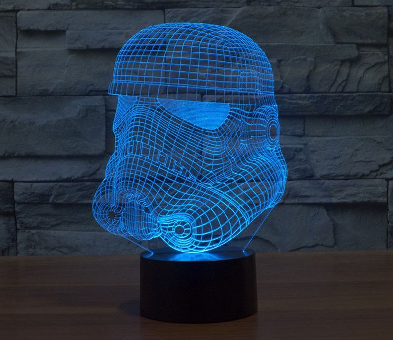 3d Star Wars Led Mood Lamps Bb 8 At At Darth Vader Yoda Storm Trooper X Wing R2 D2 Mood Lamps 3d Illusion Lamp Star Wars Stormtrooper