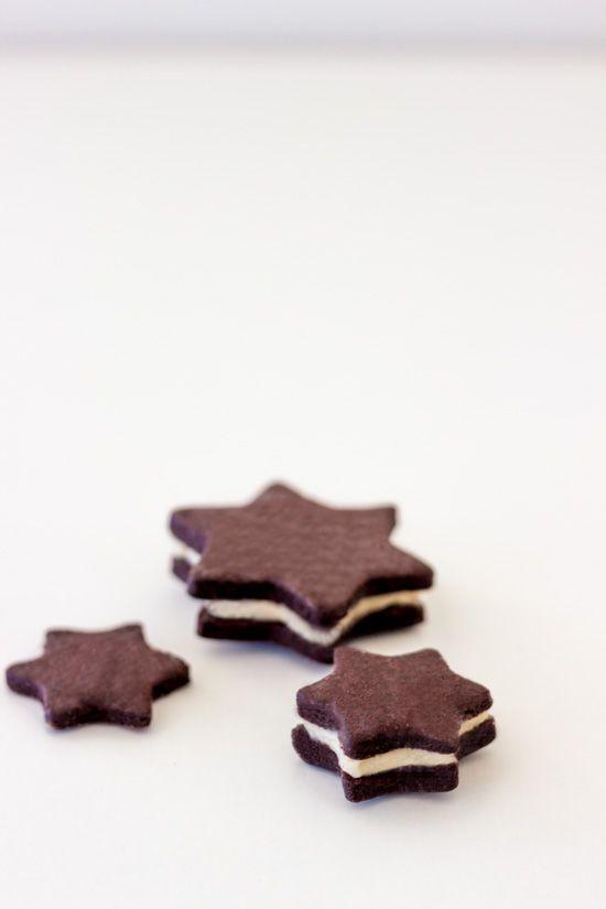 Schokoladen-Sterne mit Vanille-Buttercrème
