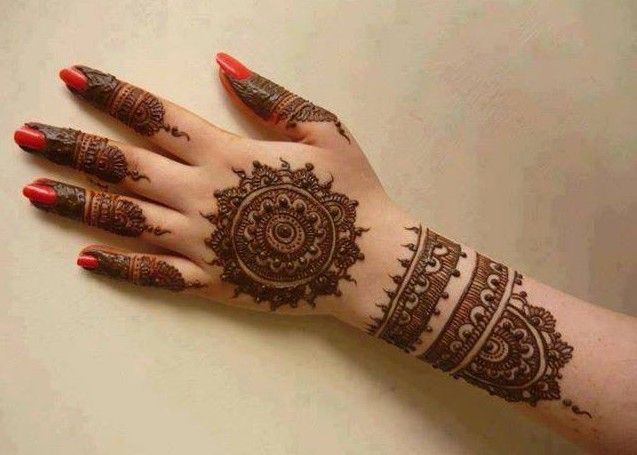 Mehndi Step By Step Designs : Simple mehndi designs for hands step by beginners henna
