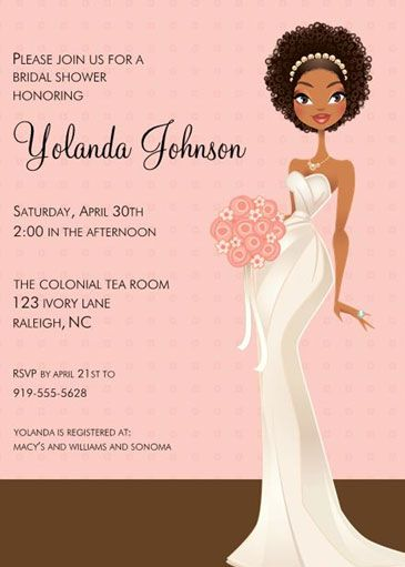 African American Bridal Shower Decorations | ... Lane Bridal Shower  Invitation Hen Party /