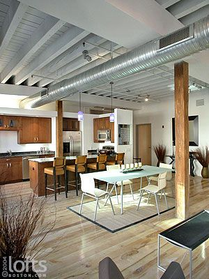 Love This White Exposed Ceiling From Www Loftsboston Com