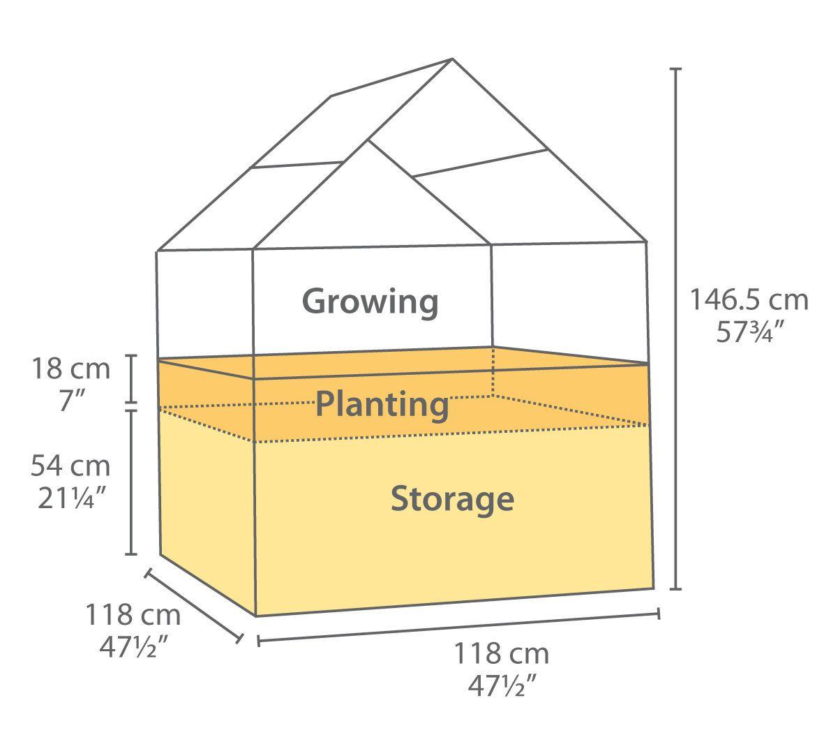 palram aluminium hochbeet anzuchtbeet gewächshaus plantino plant-inn