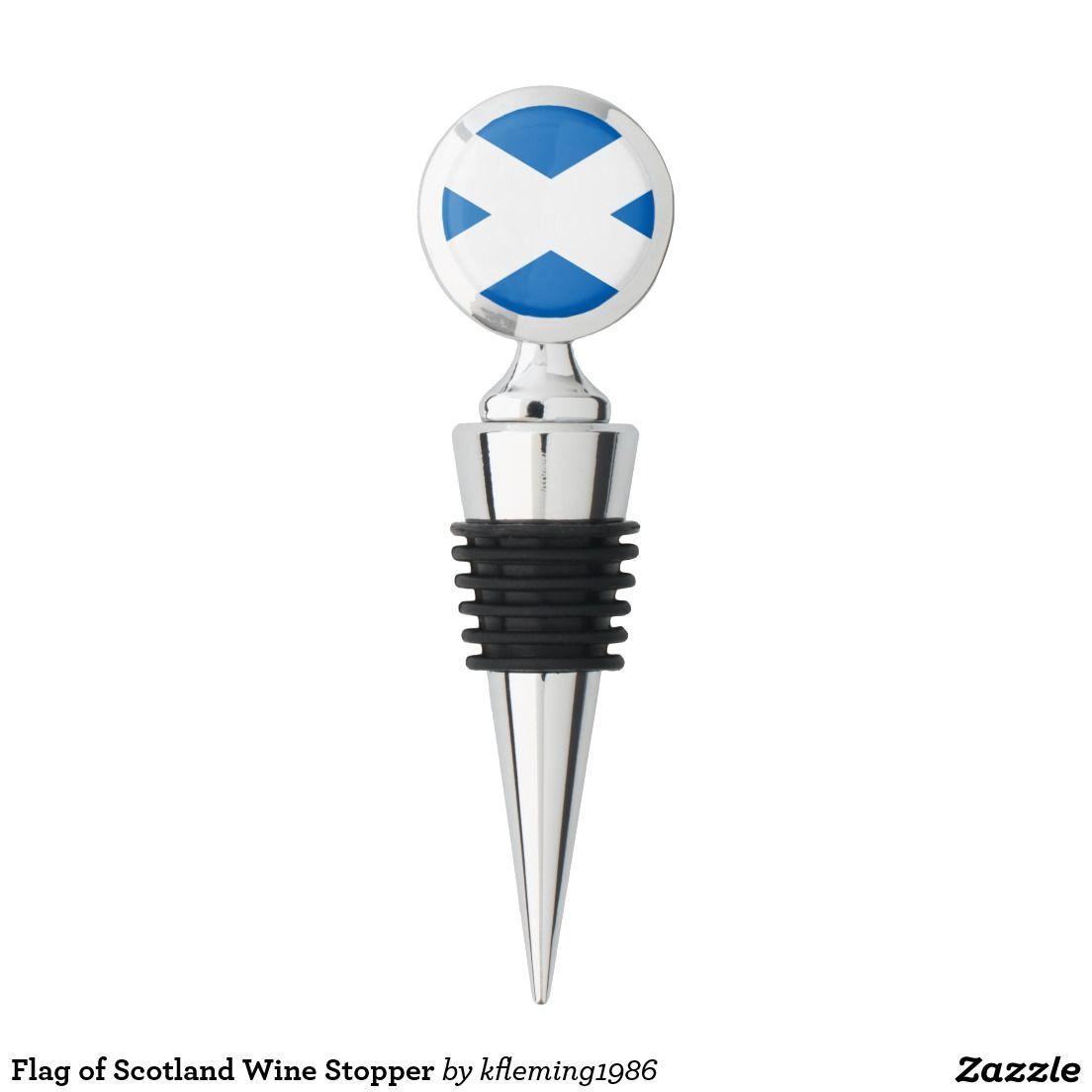Flag of Scotland Wine Stopper