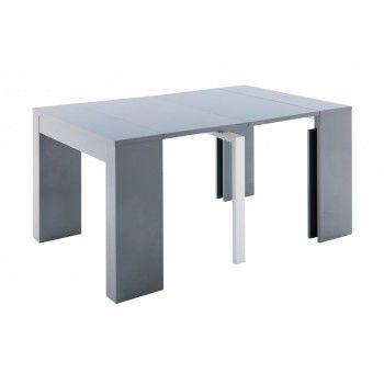 Table Console Extensible Gris Ashley Mobilier De Salon Table Design Meuble Fly