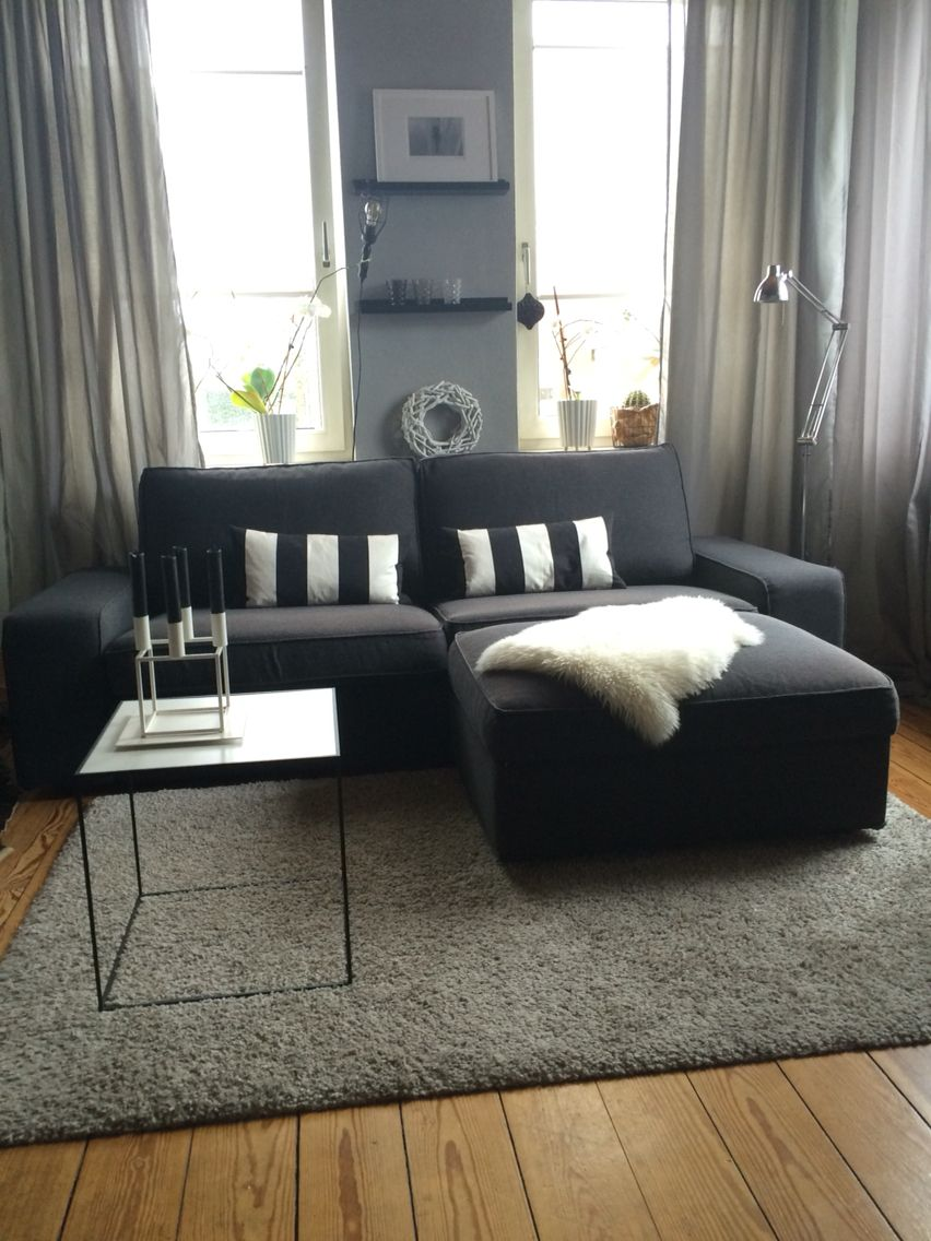 Ikea kivik nachher living room pinterest sala de for Sala de estar ikea