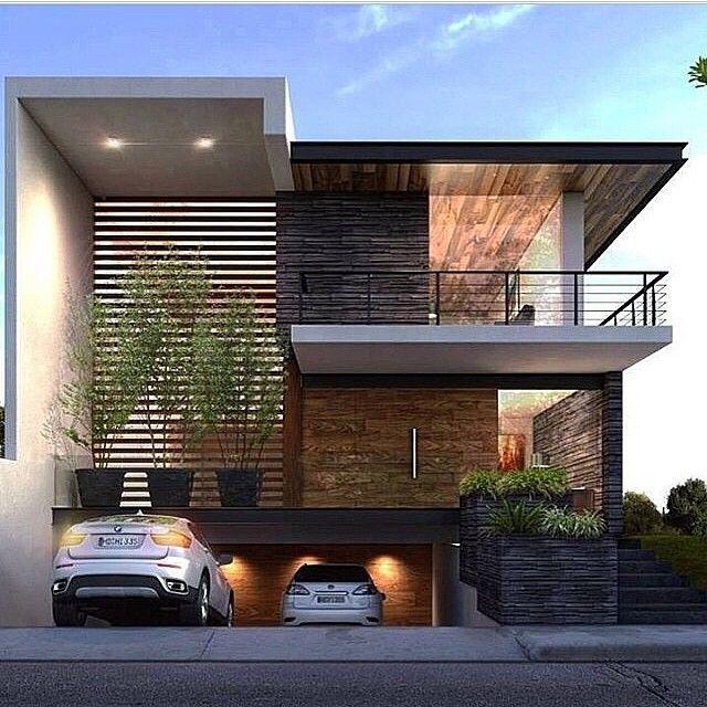 160 im genes de fachadas de casas modernas minimalistas y for Arquitectura moderna casas pequenas