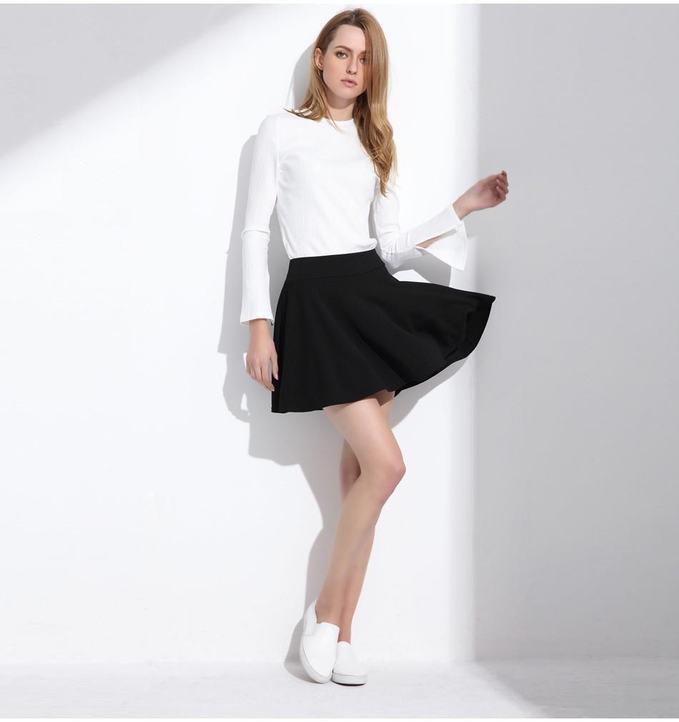 Short Skirt For Women All Fit Tutu School Skirt White Back Color Women Clothing Short Ball Skirt
