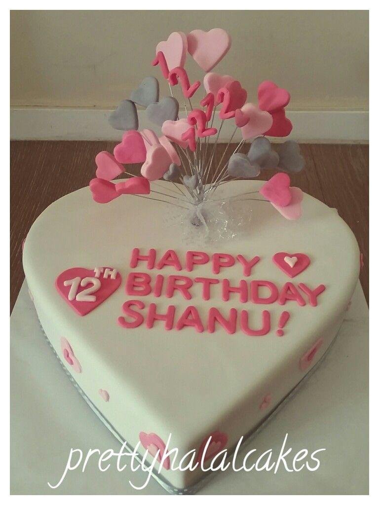 Lots Of Love Heart Shaped Birthday Cake Prettyhalalcakes