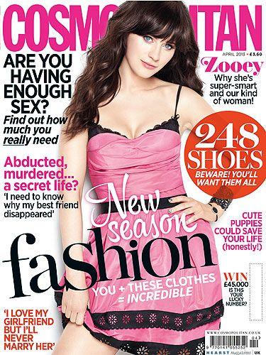 @Cosmopolitan UK 's #April issue 2013; @ZooeyDeschanel