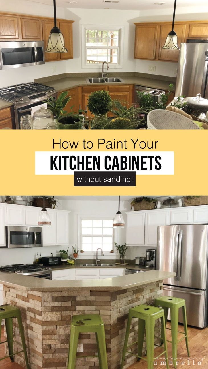 Best How To Paint Kitchen Cabinets Without Sanding Painting 400 x 300