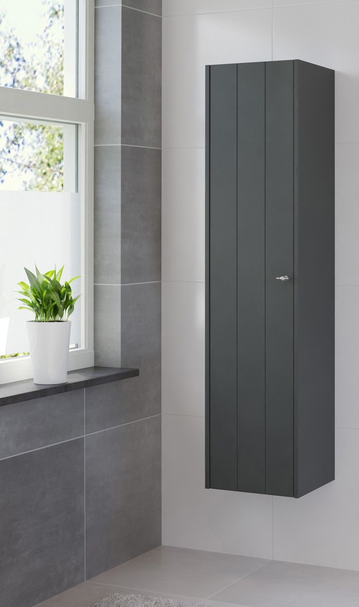 bino kolomkast hoog nachtzwart badkamerkast badkamer idee