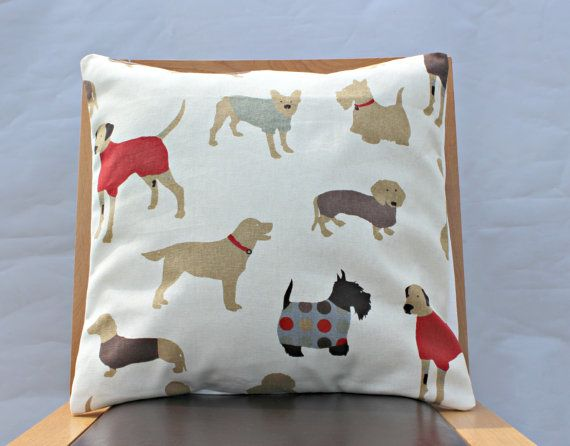 Dog Pillow red blue cream cushion cover case sham gorgeous fabric 18 x 18 dachsund retriever Scottie and great dane by VeeDubz http://sulia.com/my_thoughts/bac613e4e91d6b43a0a4d2ee440b02b0/?source=pin&action=share&ux=mono&btn=big&form_factor=desktop&sharer_id=0&is_sharer_author=false