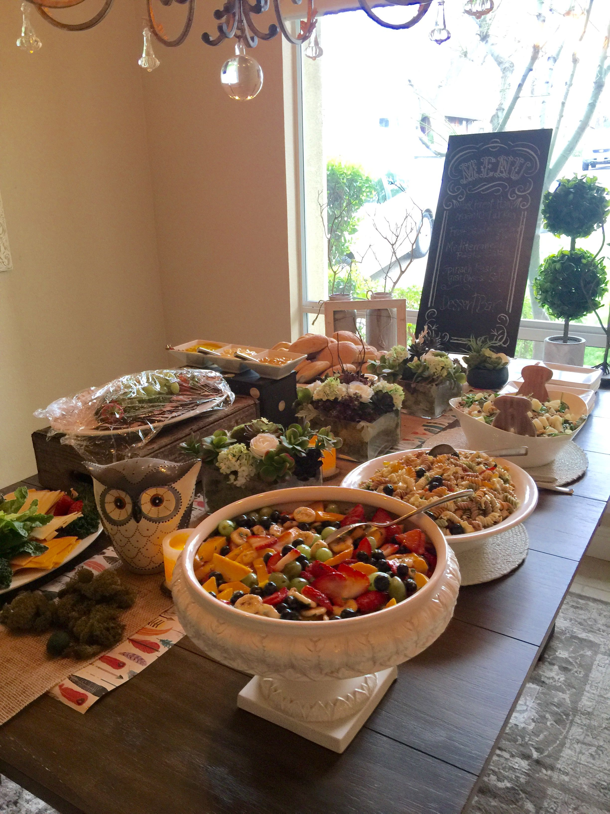 Rustic Woodland Theme Baby Shower Food Buffet Baby Shower