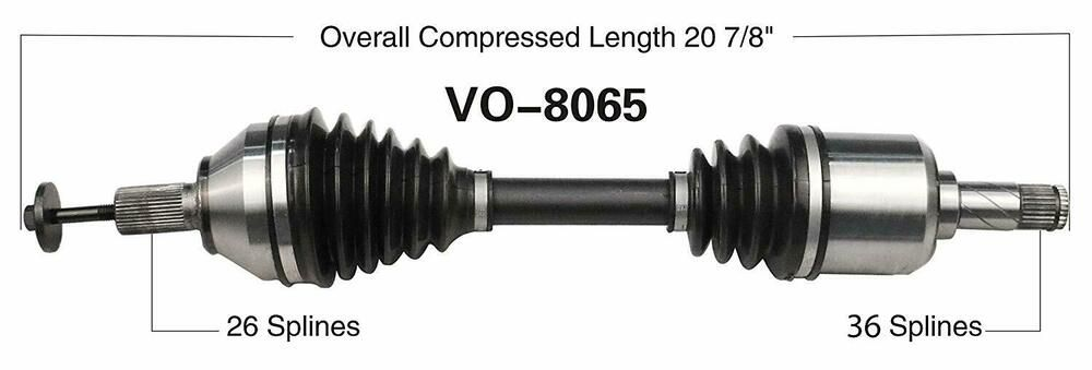 Front CV Axle Shaft Assembly LH Driver Side for Volvo S40 V50 C30 C70 FWD