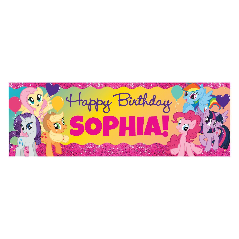 my little pony sparkleriffic birthday banner personalized birthday