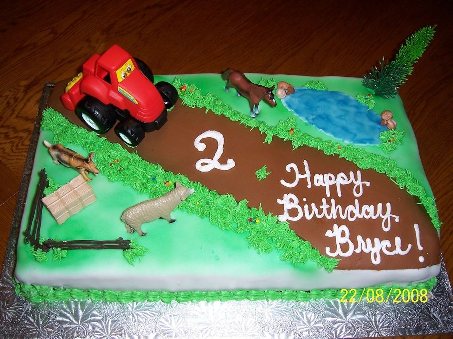 Astounding Farm Tractor Cake Funny Birthday Cards Online Fluifree Goldxyz