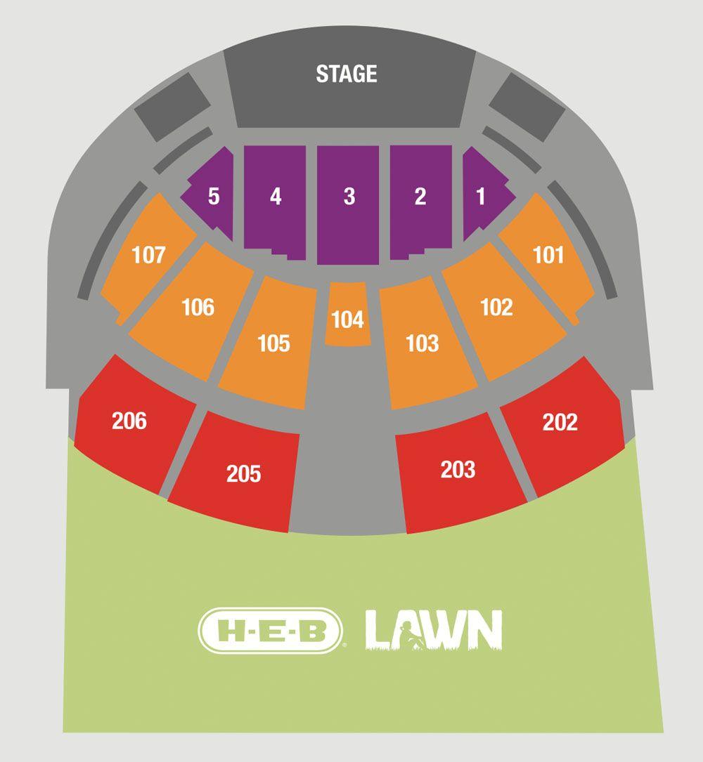 Austin360 Amphitheater Seating Chart