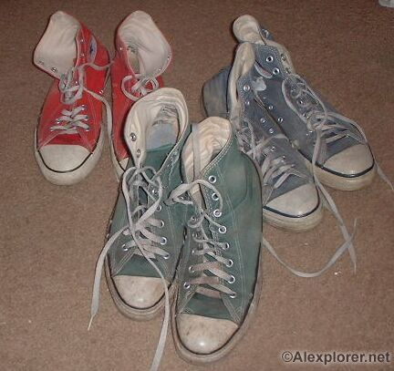 Trashed Converse Shoes Size 7