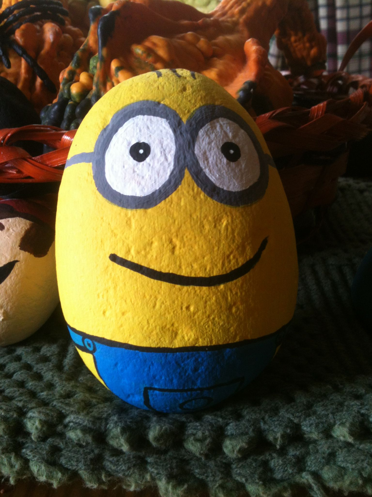 Minion despicable me painted rock | Yay for me! NotSoCraftyJackie ...