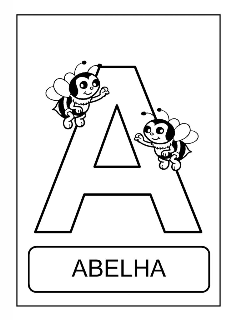Alfabeto De Animais A Para Colorir Alfabeto Ilustrado Para