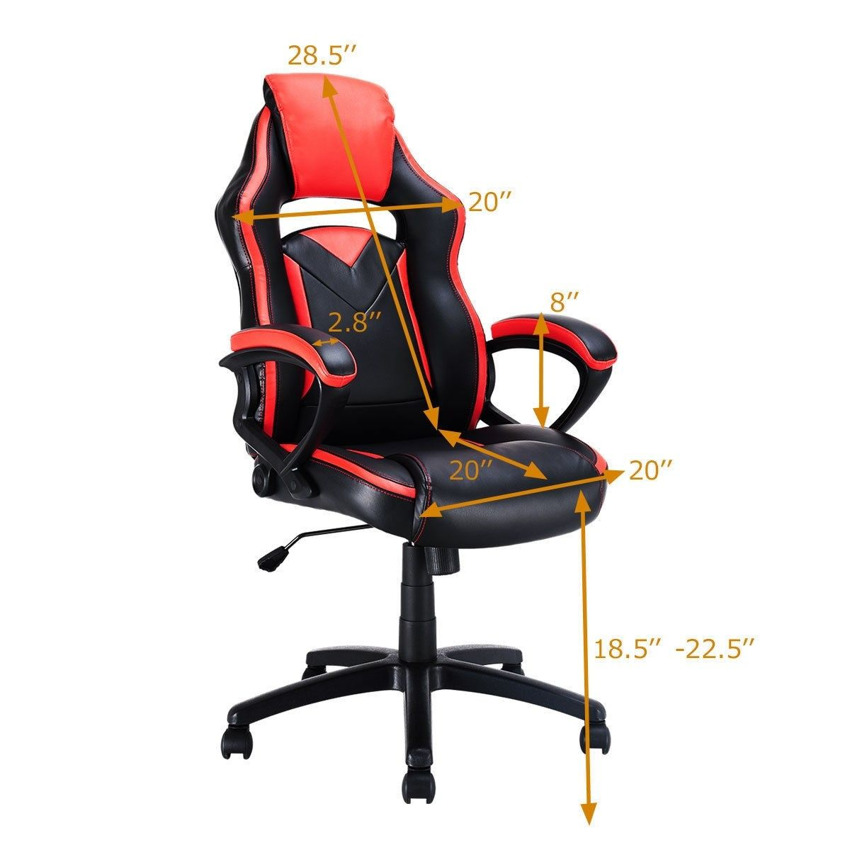 31 lbs racing style gaming chair swivel office chair 90