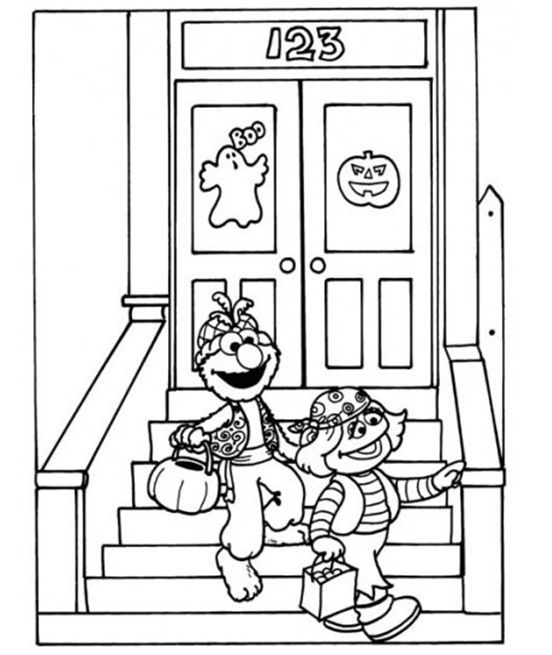 Sesame Street coloring pages on Coloring-Book.info | 655x552