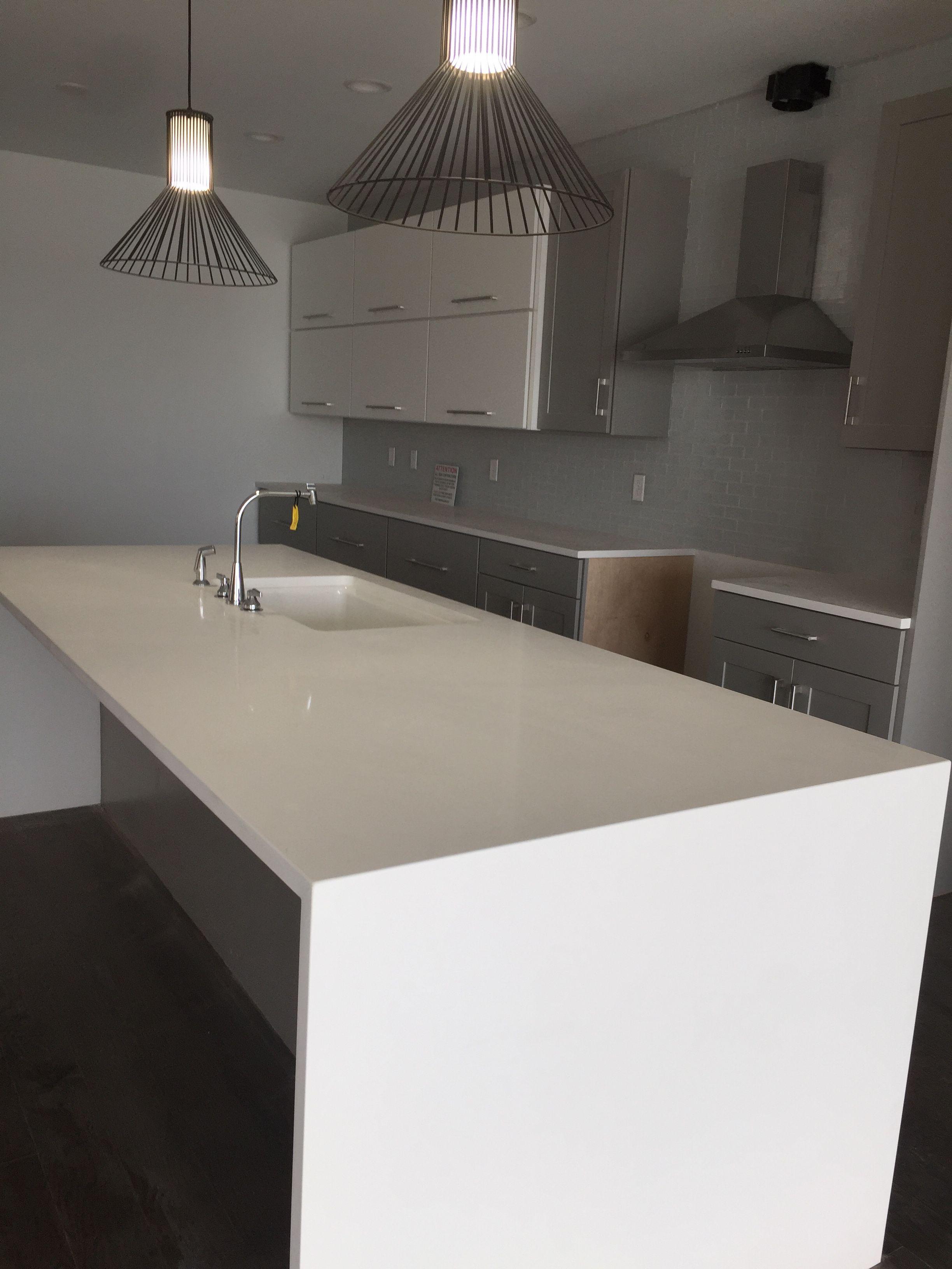 Quot One Quartz Morning Frost Quot Countertops Kitchen Bath