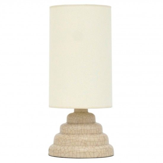Crackle Glazed Stepped Stoneware Table Lamp In 2019 Table Lamps