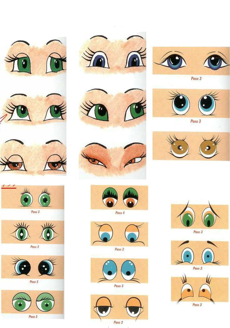 Ojos De Fofuchas Para Imprimir Pintar Ojos Ojos De Muneca