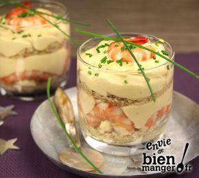 Recette Tiramisu aux crevettes roses #verrinessalees
