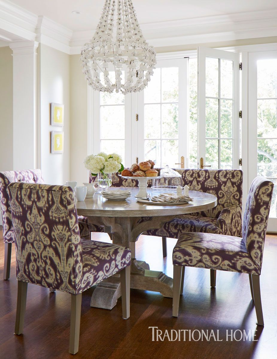 This California Home is Pretty in Purple | Kitchen Nook Ideas ...