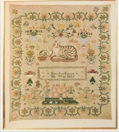 Eliza Ann Edwards 1826 Sampler published in Woman's Day magazine ...