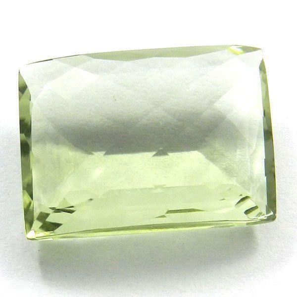 Elegant NATURAL GREEN AMETHYST 12x23mm rectangle briolette cut gemstone,16.45CTS #Handmade