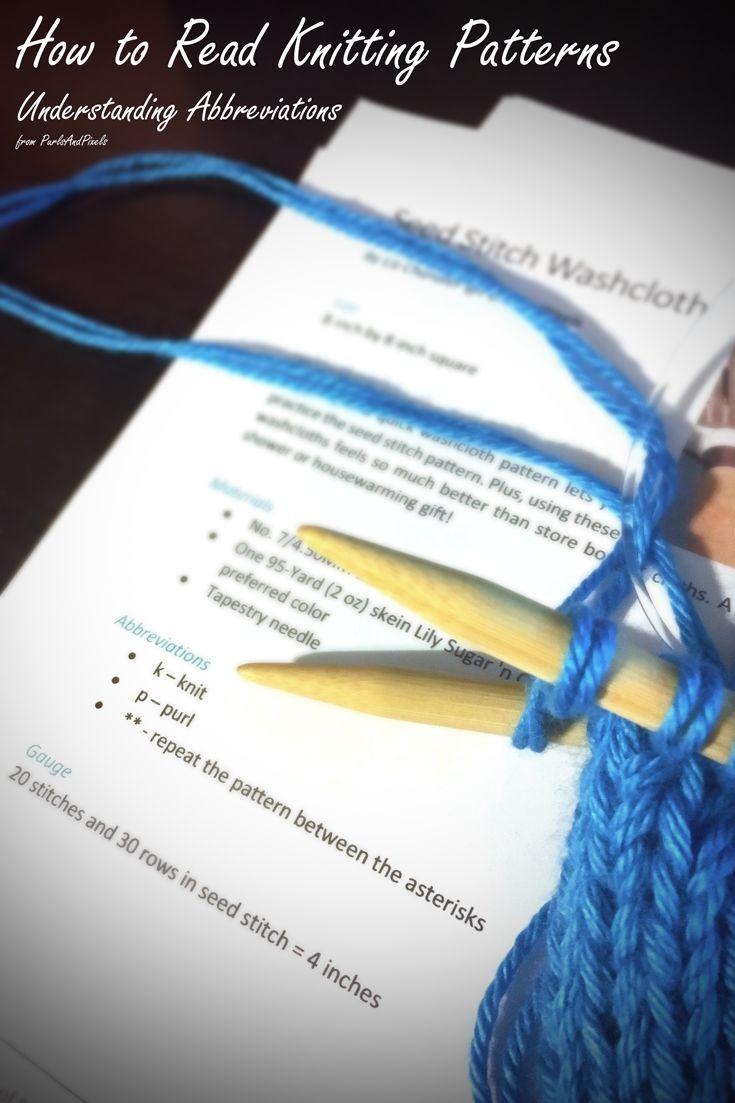 Reading Knitting Patterns | Knitting patterns, Knitting ...