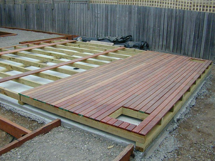 building deck over concrete slab - Google Search | garden ...