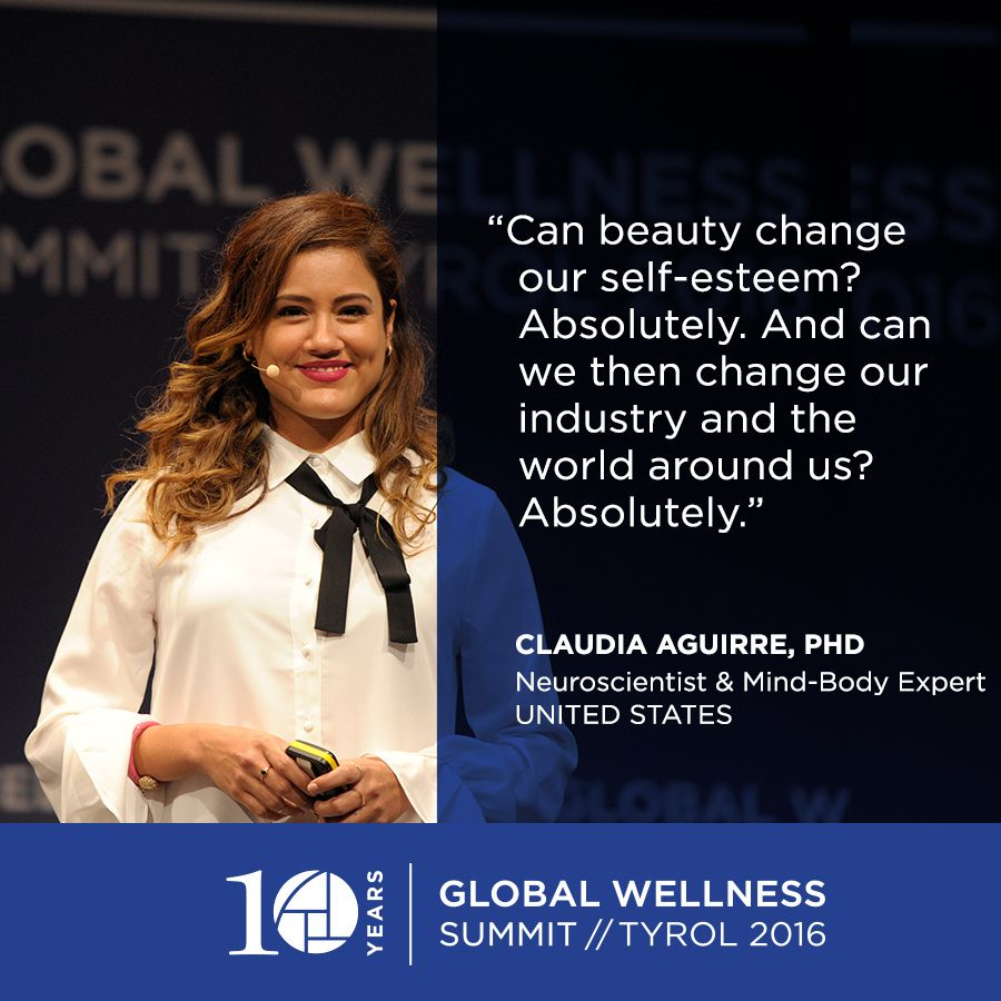 #GWS2016: Dr. Claudia Aguirre, PhD on beauty and wellness.