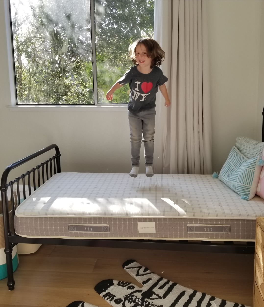 jumping for joy our firm yet plush juniper mattress offers natural