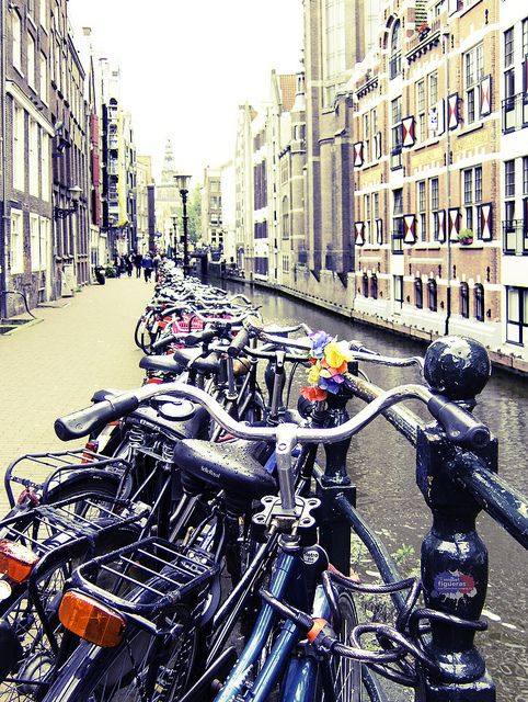 Amsterdam bikes by Miguel Figueras. In Amsterdam there are bikes every where.