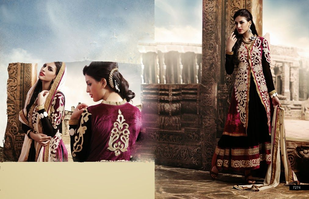 1c16ece31d3 Latest Indian Jacket Style Dresses & Gowns Anarkali Suits 2014-2015 for  Girls