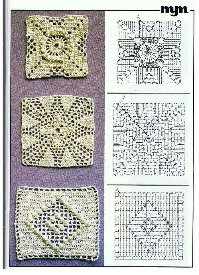 Squares | Crochet cuadros | Pinterest | Ganchillo, Círculos y ...