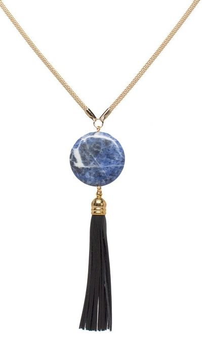 I love how the blue pendant compliments the black tassel it really i love how the blue pendant compliments the black tassel it really gives this blue aloadofball Images
