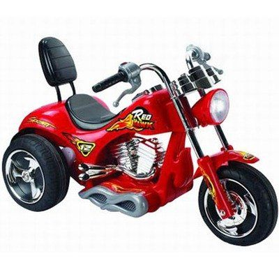 Red Hawk Motorcycle 12v In Red 249 99 Kids Ride On Ride On Toys Motorcycle Battery