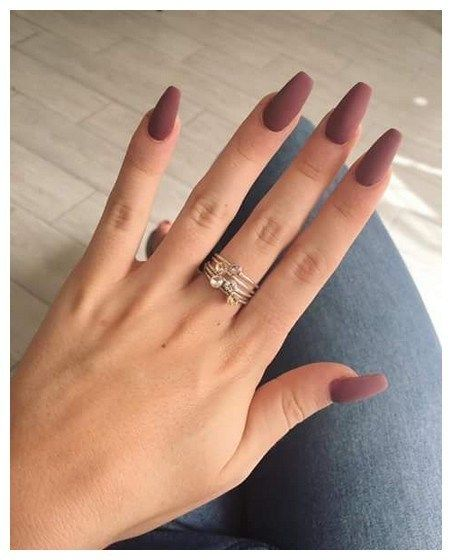 32 Simple Acrylic Coffin Nails Designs Ideas For Your 2019 00081 Coffin Nails Matte Matted Nails Matte Nails Design