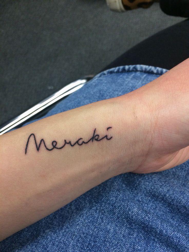 Greek Quote Tattoos And Meanings: Meraki Greek Tattoo - Google Zoeken …